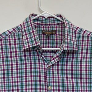 Peter Millar Mens Checked Shirt Multicolor Large